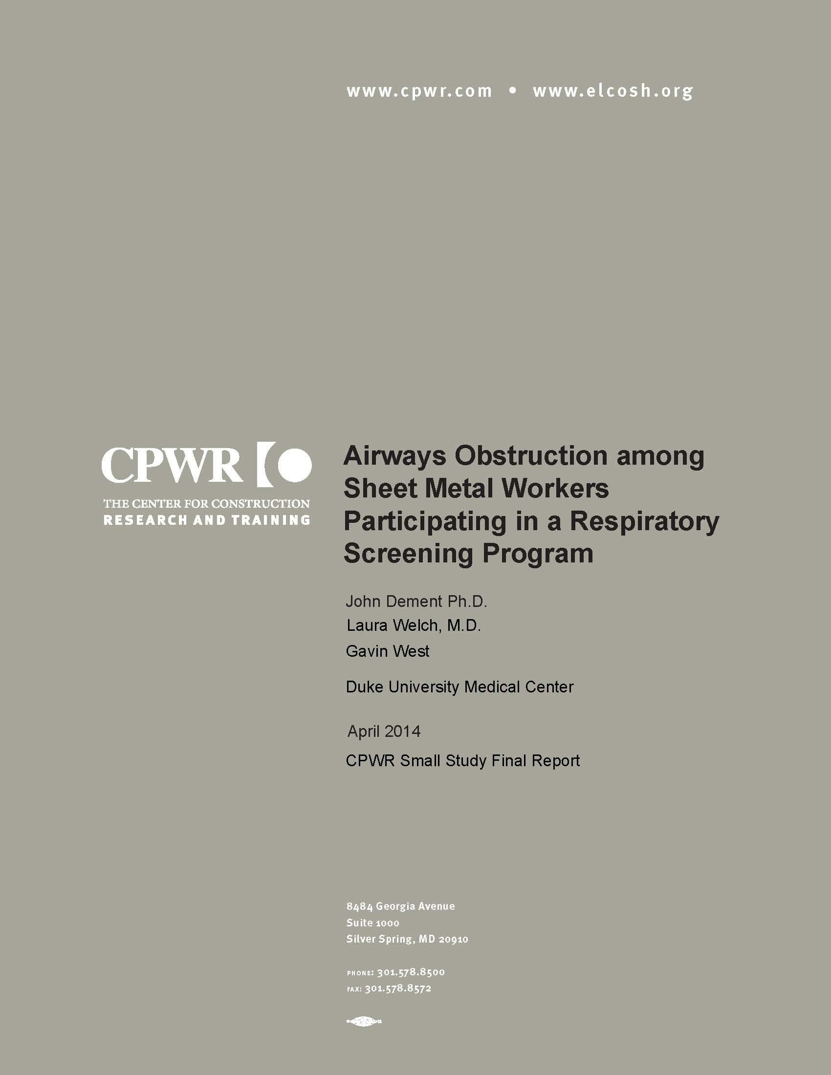 COPD report cover