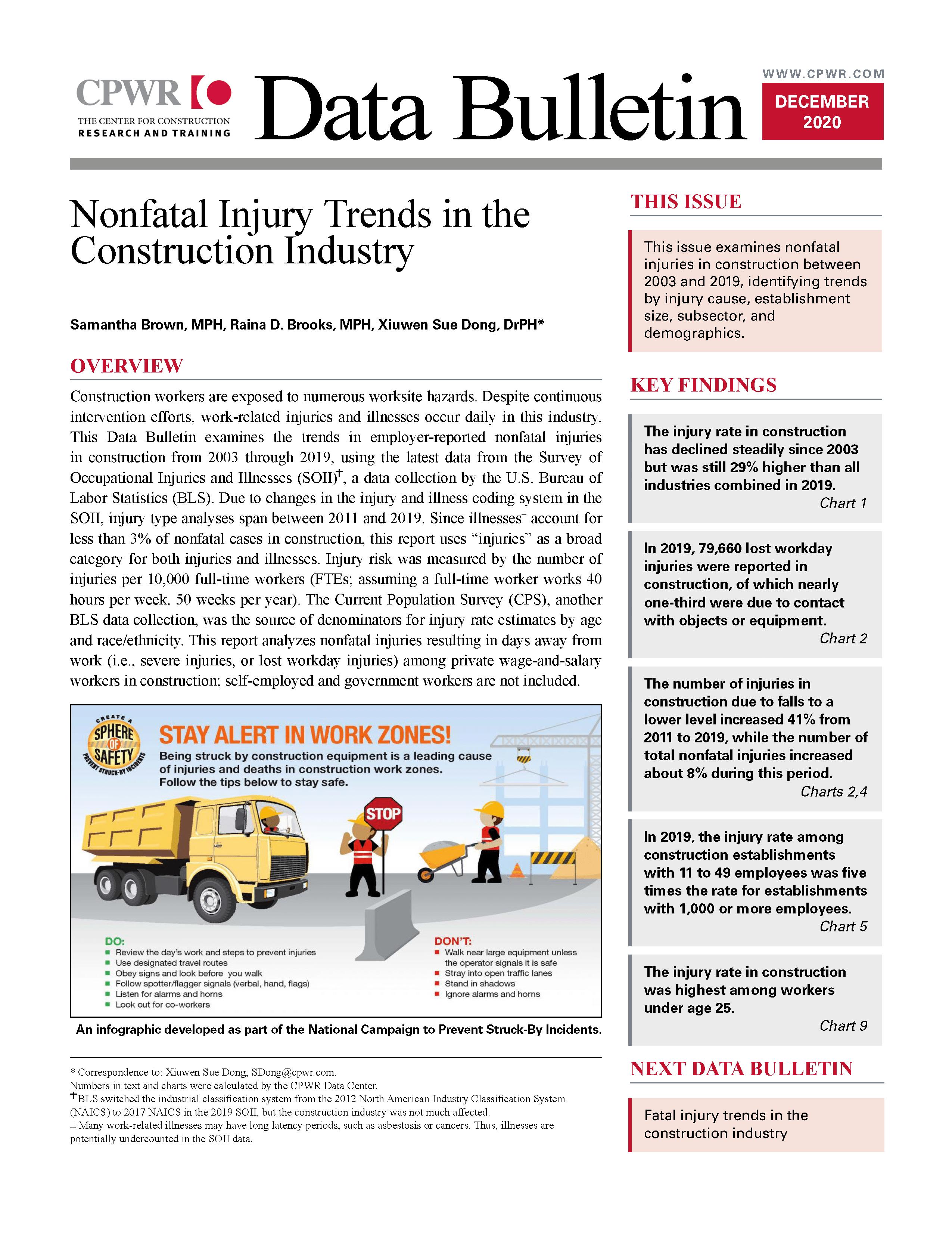 Cover of the December 2020 Data Bulletin